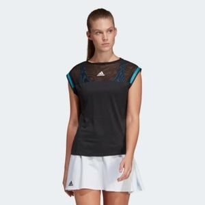 Adidas Womens Escouade Tennis Tee Black M NWT